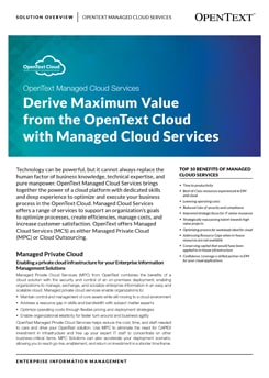 Managed Cloud Services Solution Overview