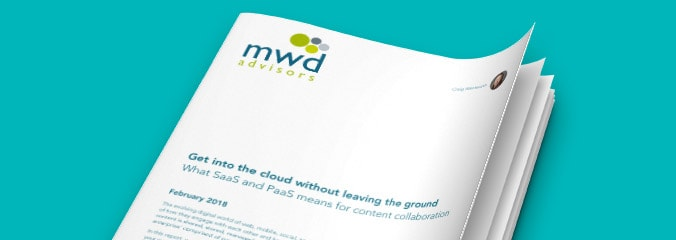 MWD advisors white paper, Get into the cloud without leaving the ground