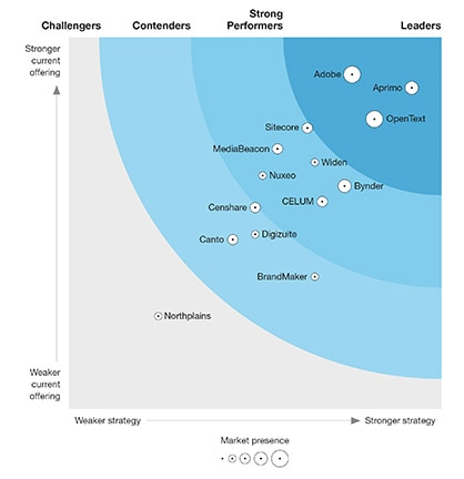 OpenText named a Leader in Digital Asset Management for Customer Experience by Forrester