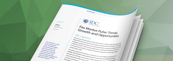 """IDC's Fax Market Pulse: Trends, Growth and Opportunities"
